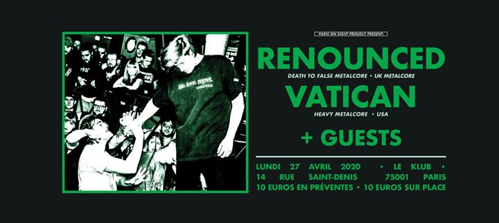 Renounced ■ Vatican (USA) ■ + guests @Paris