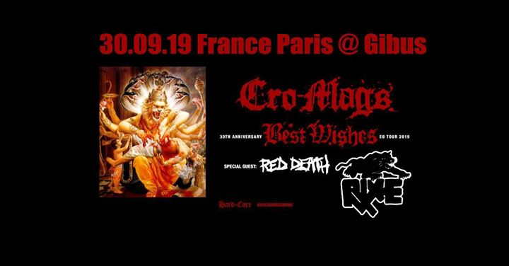 30/09 Cro-Mags BEST Wishes 30th Anniversary TOUR x RED DEATH