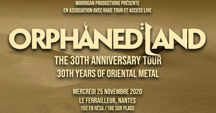 Orphaned Land ✚ Guests ✘ Nantes