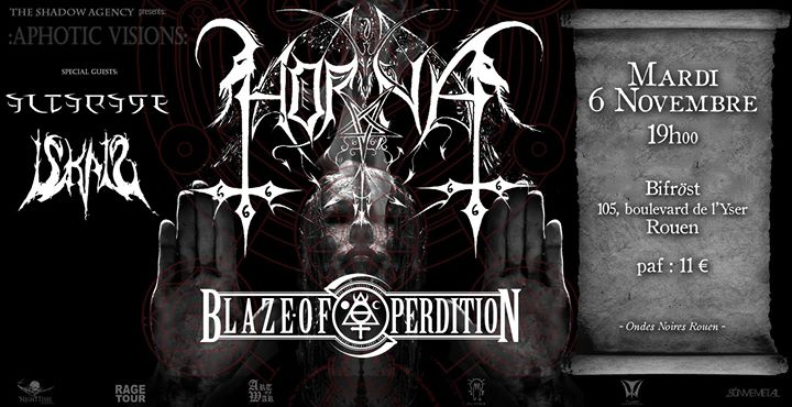 Horna, Blaze of Perdition, Iskald, Altarage /Rouen - 2018