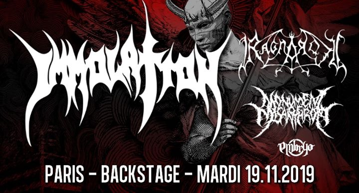 Immolation, Ragnarok, Monument of Misanthropy // Paris